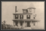 Harlow House, a large, two-story old farm house, served as the first Norview school building. This photo was taken aroun